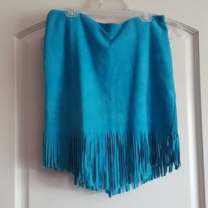 Perfect! Vintage Spell suede fringe skirt